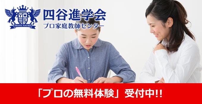四谷進学会プロ家庭教師センター「プロの無料体験受付中!!」